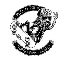 Punk rock rebel ( WORK IN PROGRESS ) by Santi Lissarrague, via Behance