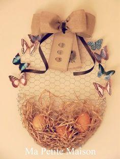 Ma Petite Maison: Basket egg in rete da conigliera #topbloggerkreattive