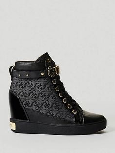 new styles 10c62 0dfdc FURRLEY LOGO WEDGE SNEAKER on Guess.eu