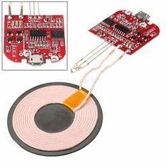 Qi Sans Fil Chargeur PCBA Circuit Panneau + Bobine Micro USB Port DIY Accessoire