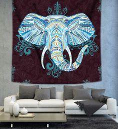 Elephant trunk Mandala tapisserie murale par Christinedecorshop