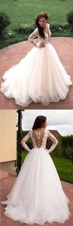 Wedding Dresses 2018 #WeddingDresses2018, Ivory Wedding Dresses #IvoryWeddingDresses, Wedding Dresses A-Line #WeddingDressesA-Line