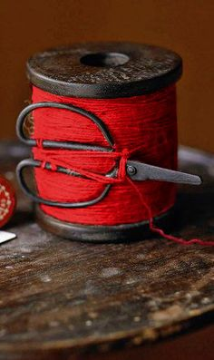 red thread & little scissors