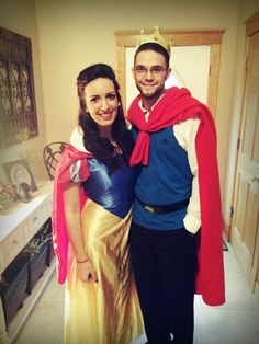 Snow white and diy prince charming costume! happy halloween :)