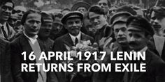 16 April Lenin arrives from exile to Petrograd High School Students, Student Learning, History, Historia, College Guys