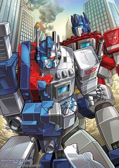 Ultra Magnus and Optimus Prime