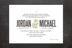 Unity Wedding Invitations by Griffinbell Paper Co. at minted.com