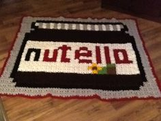 Nutella jar granny crochet blanket by france pellerin - Pattern: https://de.pinterest.com/pin/374291419001770003/