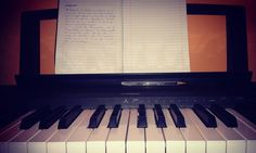 [...] #piano #sheetmusic #keyboard #love #life #play #fun #hobby #passion #composing #diary #goodnight by marcomatos99