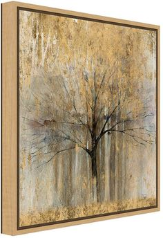 Amanti Art Open Arms Gold Crop by Avery Tillmon Canvas Framed Art Metal Tree Wall Art, Framed Wall Art, Metal Art, Bild Gold, Tree Wall Decor, Art Decor, Tree Artwork, Colorful Wall Art, Tree Sculpture