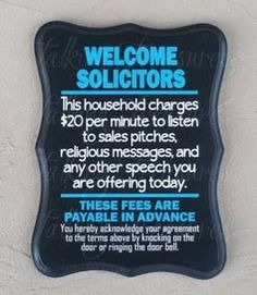 funny no soliciting signs for homes - Google Search