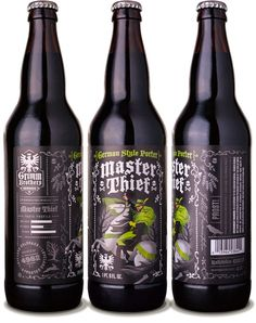 Grimm Brothers Brewhouse Master Thief German Porter - designed by Emrich Office
