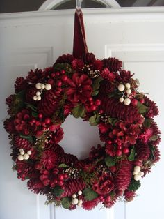 wreaths for front door | Christmas wreath, holiday wreath, front door wreath, wreaths. $49.00 ...