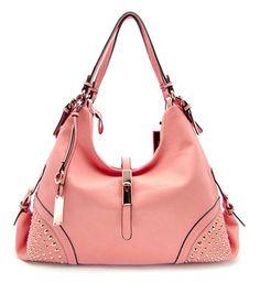 Red Pink or Black Studded Hobo Handbag by ShiqueLyfe on Etsy  42 Designer  Inspired Handbags, 23a74fd03b