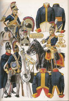 soldatini uniformi e storia militare: Horse Guards (The Blues) Troupe British Army Uniform, British Uniforms, British Soldier, Military Art, Military History, Bataille De Waterloo, Best Uniforms, Military Uniforms, Military Costumes