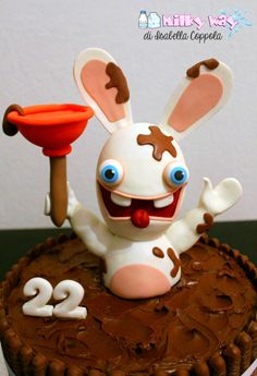 Raving Rabbids Nutella Cake Kuchen von Isabella Coppola di Milky Way # Fondant Animals Tutorial, Nutella Cake, Aj Styles, Sweet And Salty, Ale, Sweet Treats, Nail Designs, Birthdays, Birthday Parties
