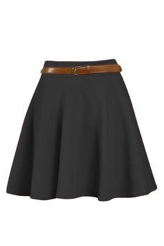 Christa Full Circle Belted Skater Skirt alternative image