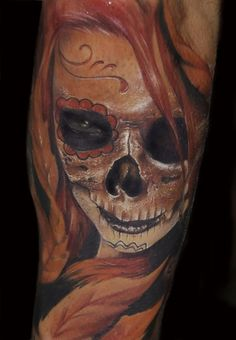 ... galleries color tattoos custom tattoos evil tattoos skull tattoos