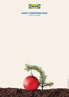 Print Advertising : IKEA: Early Christmas Sale Print Advertising Campaign Inspiration IKEA: Early Christmas Sale Advertisement Description IKEA: Early Christmas Sale Don't forget to share the post, Sharing is love ! Creative Advertising, Ads Creative, Print Advertising, Advertising Campaign, Print Ads, Creative People, Ikea Ad, Sale Campaign, Christmas Campaign