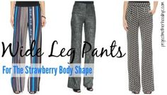 wide leg pants - what V's can look out for