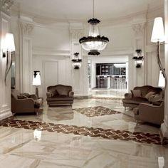 Luxor Grey Polished Glazed Porcelain Tile 600x600mm