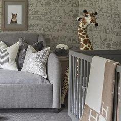 Nursery with Gray Ark Wallpaper