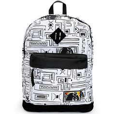 Head to class or hit the trails in the stylish Jon white geo print backpack from The Hundreds. A stylish black geo print accents the white colorway with a black suede reinforced bottom and large main compartment with a padded laptop compartment so you can Skate Backpacks, Men's Backpacks, The Hundreds, Laptop Backpack, Geo, Black Suede, Fashion Backpack, Stylish, Bags