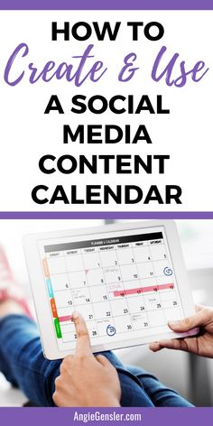 How to Create and Use a Social Media Content Calendar is part of Organization Apps Social Media - Learn how to create and use a social media content calendar and finally master social media for your business Social Media Content, Social Media Tips, Social Media Campaign Ideas, Social Media Management, Time Management, Facebook Marketing, Online Marketing, Marketing Ideas, Marketing Articles