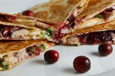 Turkey and Cranberry Quesadillas.  Thanksgiving tailgate.