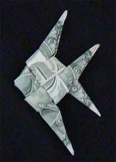 New Origami Fish Money Gift Ideas Ideas Origami Fish Easy, Easy Dollar Bill Origami, Useful Origami, Folding Money, Origami Paper Folding, Origami Ball, Origami Boxes, Origami Gifts, Money Origami