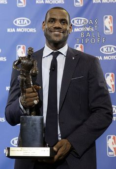 LeBron James of the Cleveland Cavaliers is the front runner for the 2018 KIA MVP!  50% of the NBA GMs picked LeBron as the favourite to win the MVP next seson followed by Kevin Durant of the Golden State Warriors at 29% and Kawhi Leonard of the San Antonio Spurs at 11%.  Not a single GM picked the current MVP Russell Wesrbrook of the Oklahoma City Thunder to win a back to back MVP.  -AJHEAT