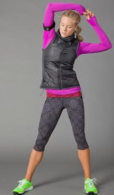 Performance Style Guide | Athleta love these capris and top.  Best workout clothes ever