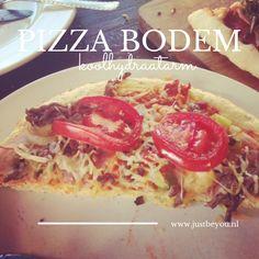 Gisterenavond voor het het eerste een pizza bodem koolhydraatarm gegeten van het recept Grip op Koolhydraten van Yvonne Lemmers.