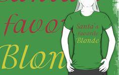 SANTA'S FAVORITE BLONDE by Divertions