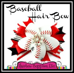 How to Make a Baseball Hair Bow with a REAL Baseball! – Hairbow Supplies, Etc.