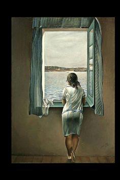 "Salvador Dali - ""Woman at the Window "", 1925 - Oil on board - 105 x 74 cm"