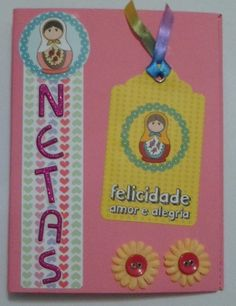 Mini álbum Netas / Barquinho de Papel Scrap