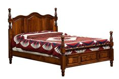 Amish Squanto Bed You can have a new Squanto Bed built in the wood and finish you select. Do you like light colors or wood grain with character? They're all at your fingertips.