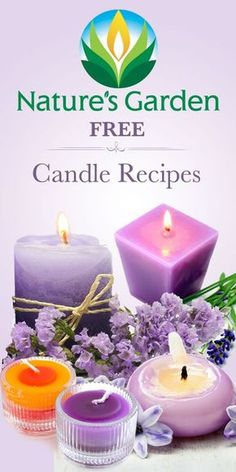 Free Candle Recipes.  Learn how to make your own candles.  #candlerecipe