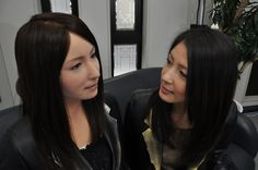 """AMAZING! """"female android"""" named Geminoid F. Built by Japanese robotics guru Hiroshi Ishiguro, Geminoid is programmed with 65 different behaviors including the ability to hold a conversation, sing a song, walk, somersault, and to kung fu fight."""
