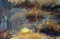 James Gurney, Drainage Ditch, gouache 5x8 inches