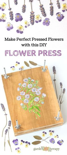Make perfectly pressed flowers with a homemade flower press DIY