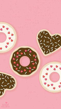 Imagem de donuts, wallpaper, and pink