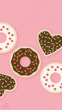 Imagem de donuts, wallpaper, and pink