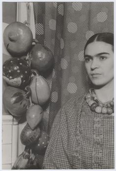 "Frida, 1932. From her diary: ""I used to think I was the strangest person in the world but then I thought there are so many people in the world, there must be someone just like me who feels bizarre and flawed in the same ways I do. I would imagine her, and imagine that she must be out there thinking of me too. Well, I hope that if you are out there and read this and know that, yes, it's true I'm here, and I'm just as strange as you."""