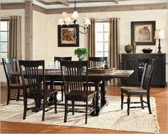 Intercon Solid Oak Dining Set Gramercy Park INGP4296SET
