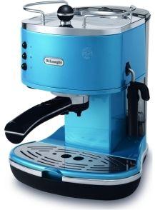 Blue Delonghi coffee machine