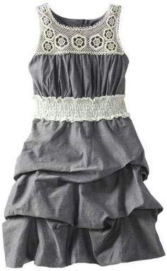 Amy Byer Girls 7-16 Lace Hi-Low Dress - http://www ...