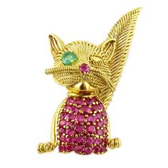Tiffany Winking Cat Brooch