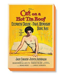 MOV 072 Movie Poster Art - Cat on a Hot Tin Roof